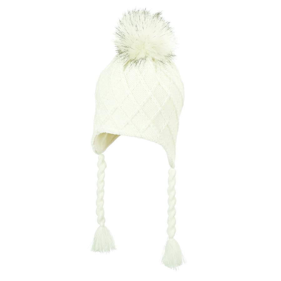 Sterntaler pletená čepice ecru