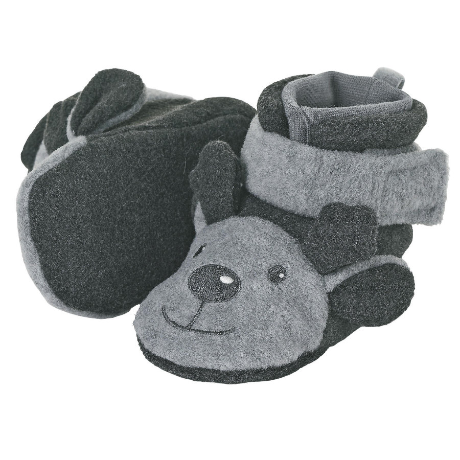 Sterntaler Baby-Schuh silber melange