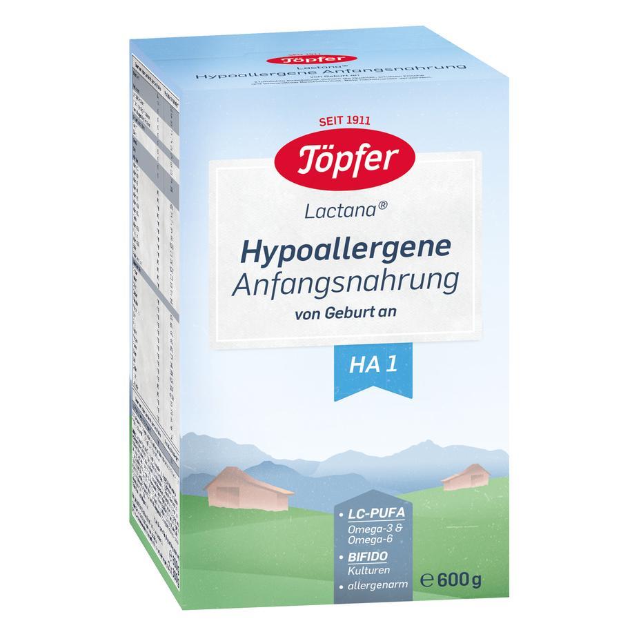 Töpfer Hypoallergene Anfangsnahrung HA 1 600 g ab der Geburt