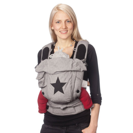 HOPPEDIZ Baby Carrier Bondolino Slim Fit grey with star