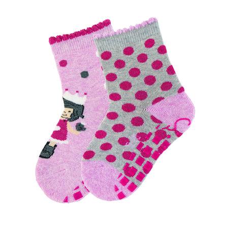Sterntaler ABS-Söckchen Doppelpack Prinzessin rosa melange