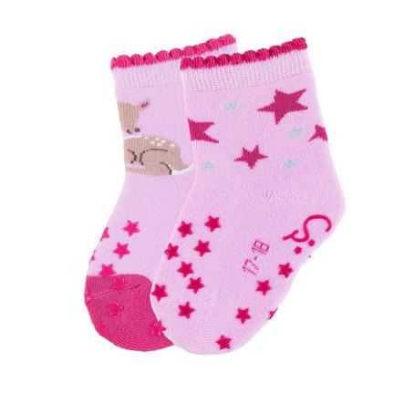 Sterntaler ABS-Krabbelsöckchen Doppelpack Bambi rosa