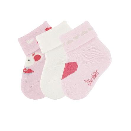 Sterntaler  Baby-Söckchen 3er-Pack Maus rosa