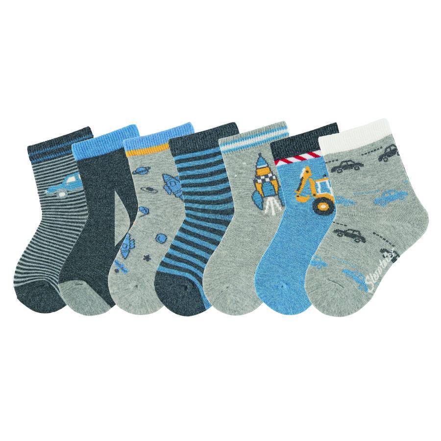 Sterntaler ponožky 7 ks světle šedá melanž