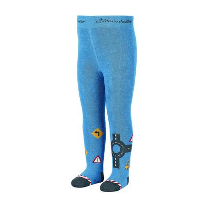 Sterntaler panty's wegenbouw medium blauw
