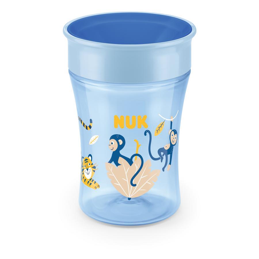 NUK Tazza da bere Evolution Magic  Tazza dell'8° mese blu Design : Tiger / scimmia