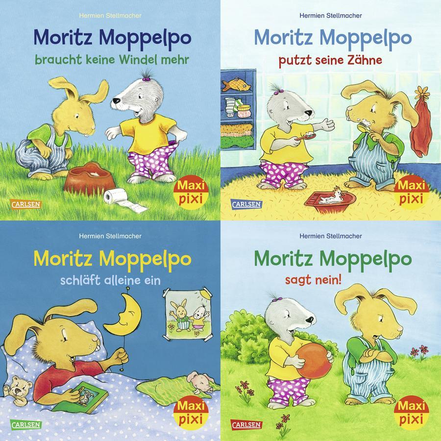 CARLSEN Maxi-Pixi-4er-Set 71: Moritz Moppelpo (4x1 Exemplar)