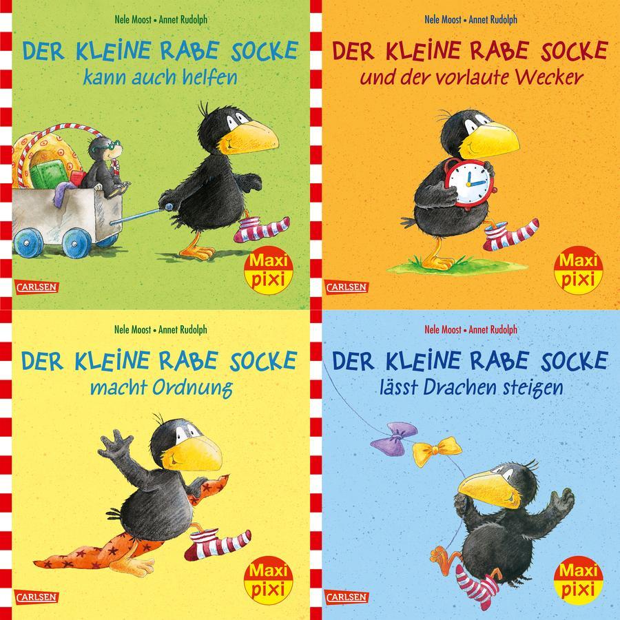 CARLSEN Maxi-Pixi-4er-Set 57: Rabe Socke (4x1 Exemplar)