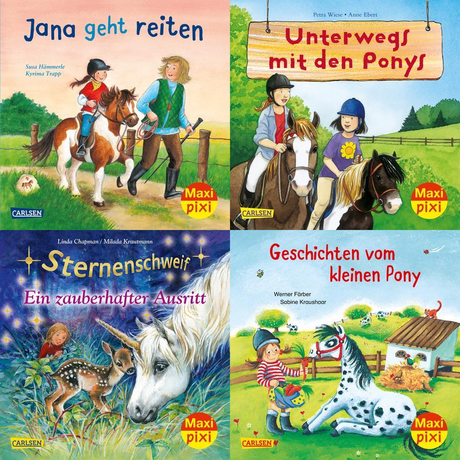 CARLSEN Maxi-Pixi-4er-Set 70: Pferde und Ponys (4x1 Exemplar)