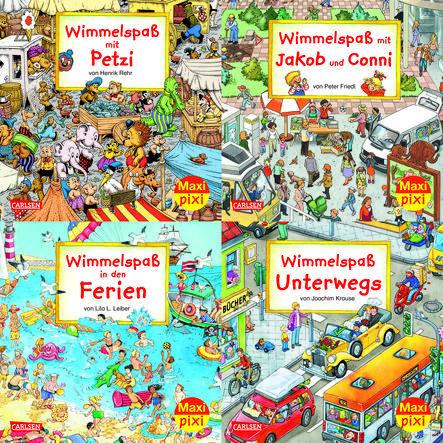 CARLSEN Maxi-Pixi-4er-Set 43: Wimmelbilder 4 (4x1 Exemplar)