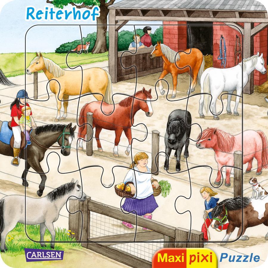 CARLSEN Maxi Pixi: Maxi-Pixi-Puzzle: Reiterhof