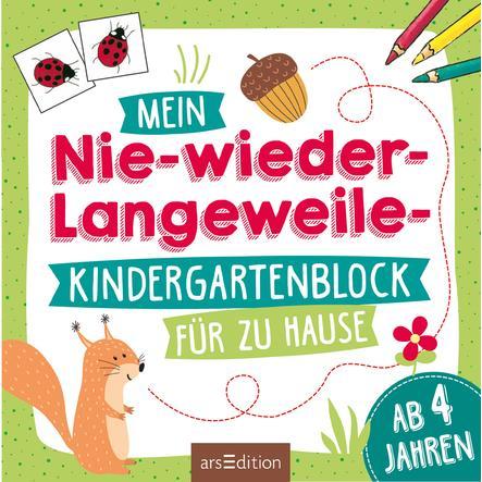arsEdition Mein Nie-wieder-Langweile-Kindergartenblock für zu Hause
