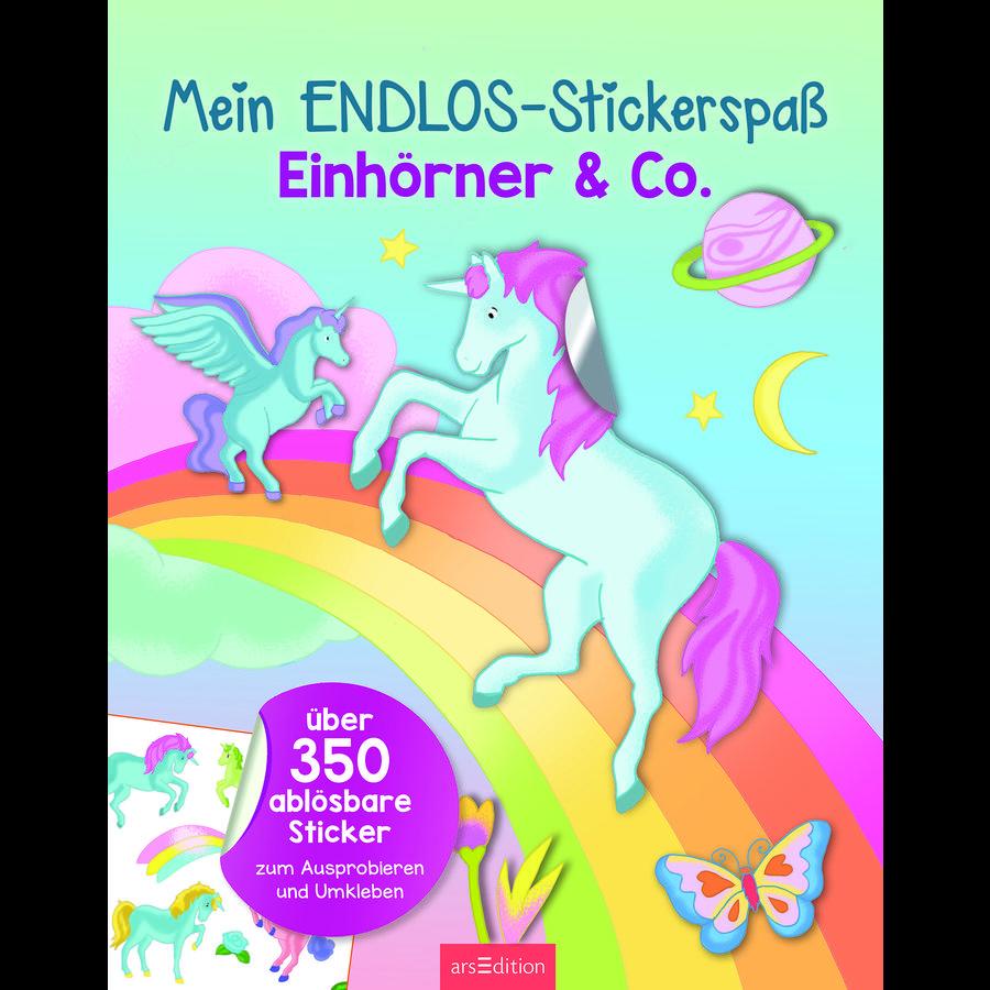 arsEdition Mein Endlos-Stickerspaß Einhörner & Co.
