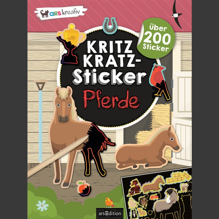 arsEdition Kritzkratz-Sticker Pferde