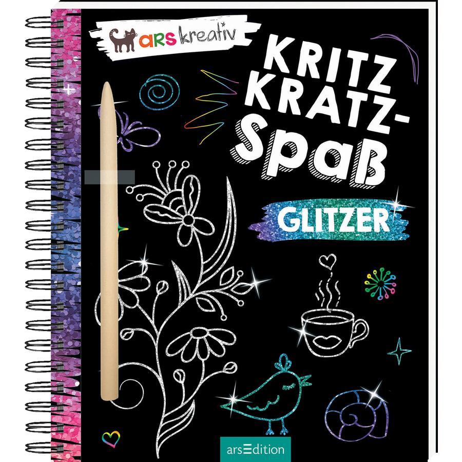 arsEdition Kritzkratz-Spaß Glitzer