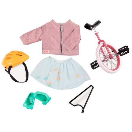 Our Generation - enhjulet cykel med udstyr