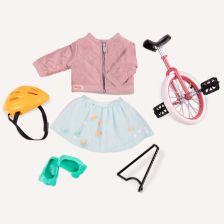 Our Generation enhjuling med outfit