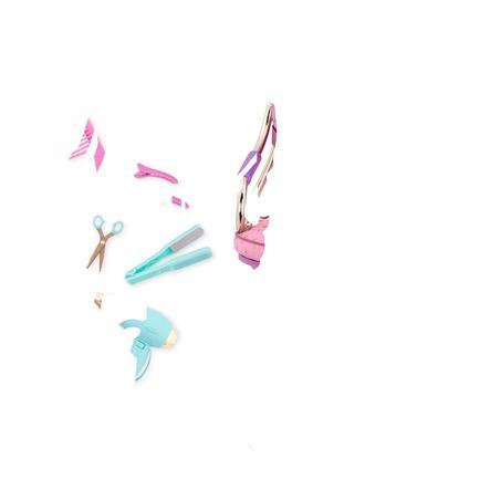 Our Generation - Accessoire pour poupée chaise de coiffeur à coeurs dorés