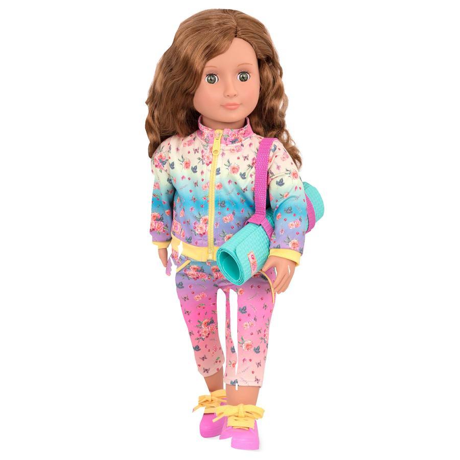 OG-nukke Lucy Grace Joogaopettaja urheilumatolla 46 cm