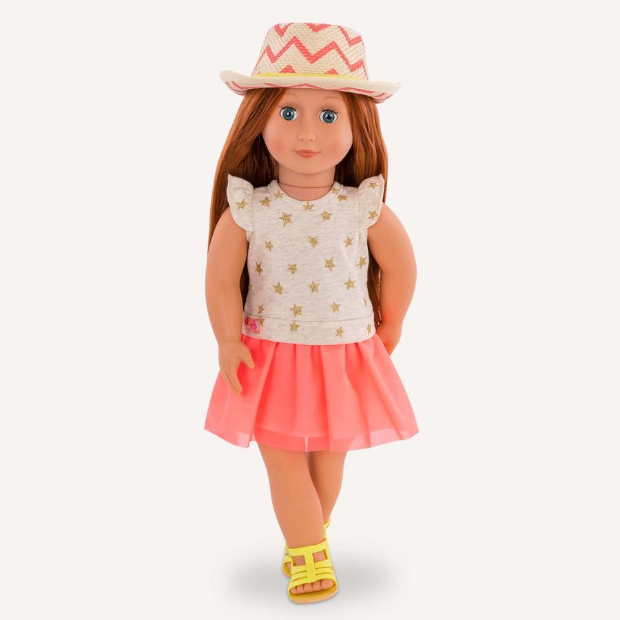 Our Generation - Puppe Clementine mit Sternchenkleid und Hut 46 cm