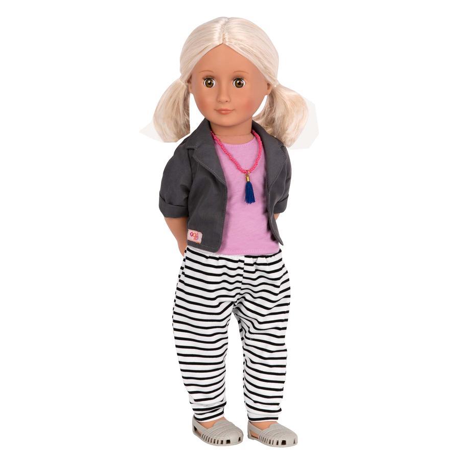 Our Generation - Dukke Jesse med stribede bukser 46 cm