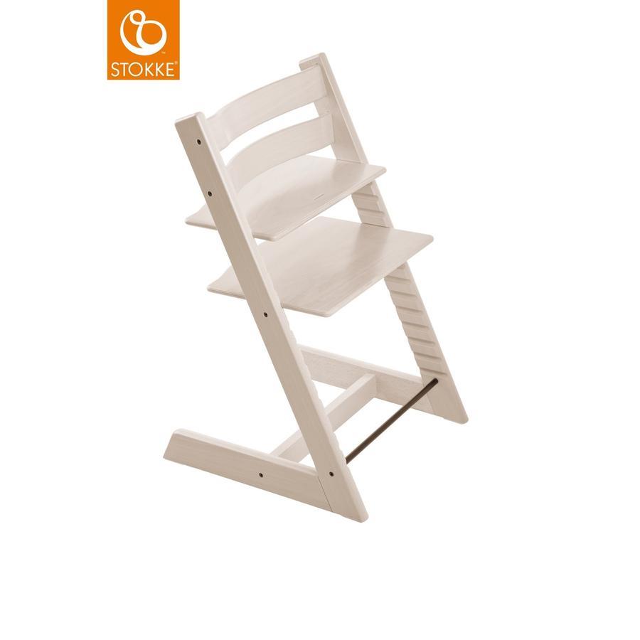 STOKKE® Tripp Trapp® Hochstuhl Buche weiß transparent