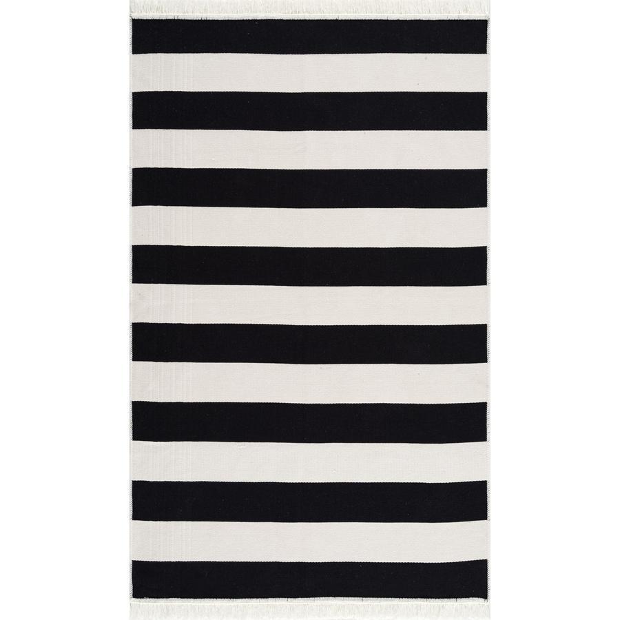 LIVONE Bavlněný koberec omyvatelný Happy Rugs Piatto STREET černá / bílá 120x180 cm