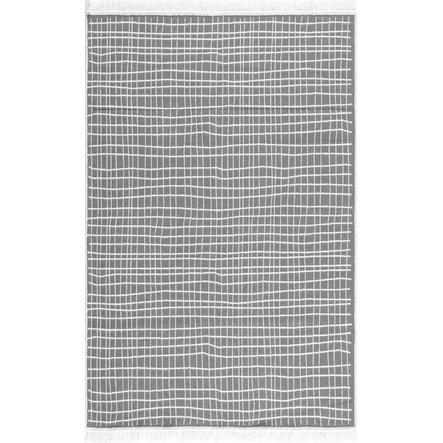 LIVONE Vaskbart bomullsteppe Happy Rugs Piatto DOLCHE grå / hvit 160x230 cm