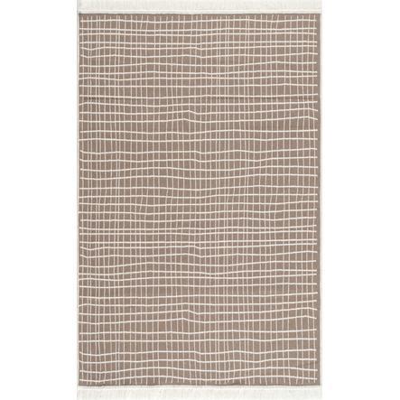 LIVONE Tapis en coton lavable Happy Rugs Piatto DOLCHE naturel/blanc 120x180 cm