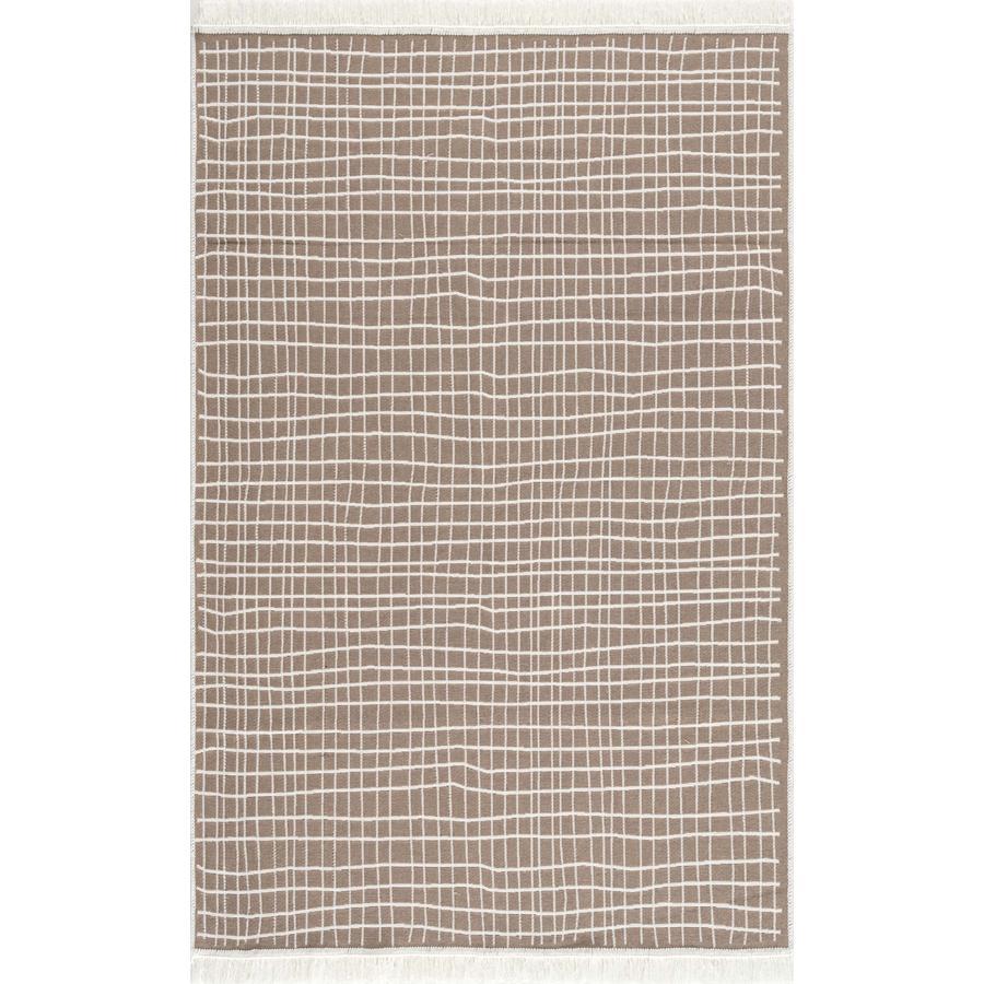 LIVONE Baumwoll Teppich waschbar Happy Rugs Piatto DOLCHE natur/weiß 160x230 cm