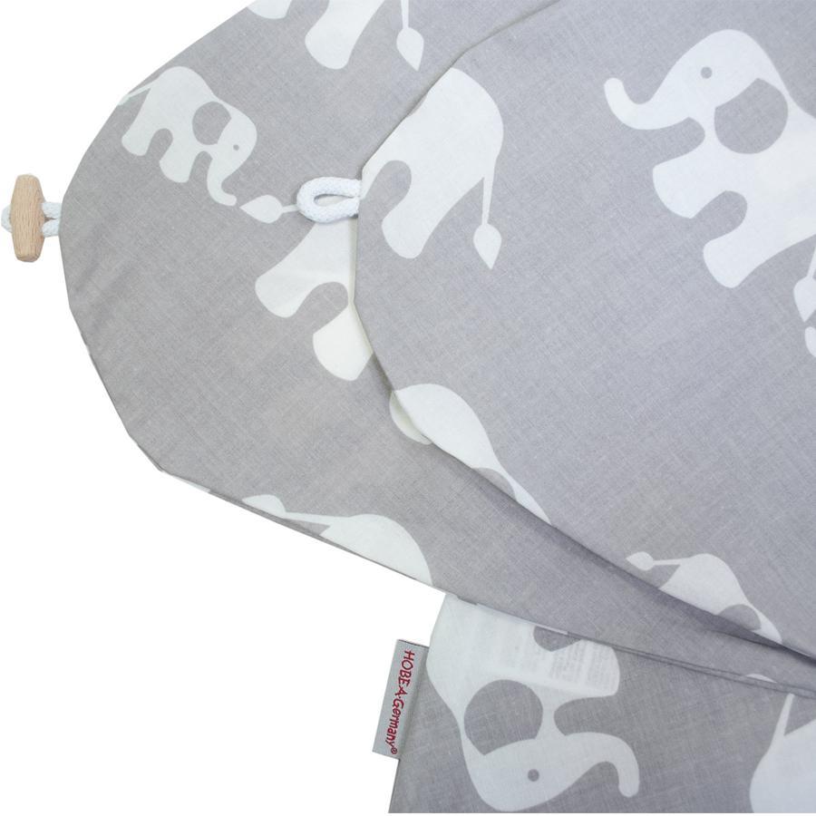 HOBEA-Tyskland pleieputetrekk elefantfamilien gråhvit