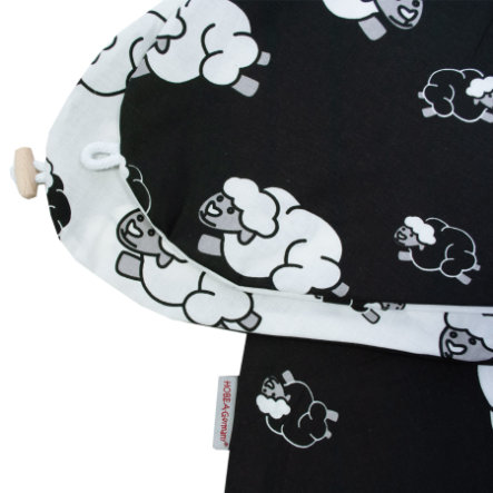 HOBEA-Germany Stillkissenbezug Schaf schwarz weiß
