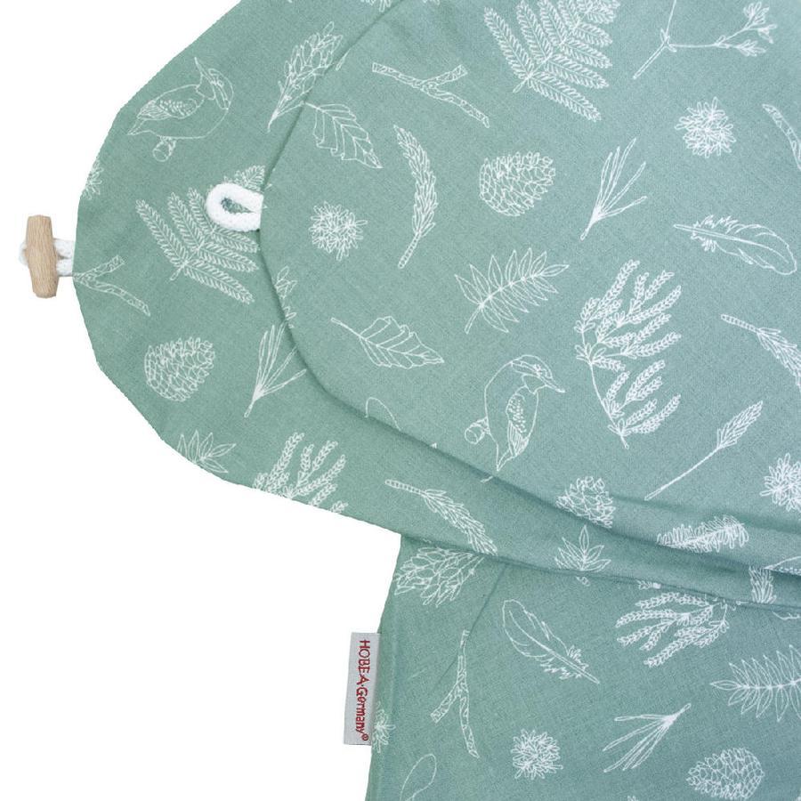 HOBEA Housse de coussin d'allaitement forêt vert