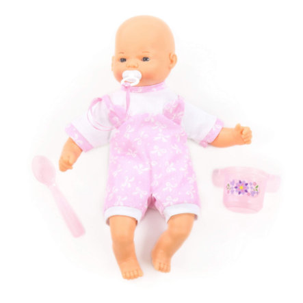 POLESIE ® Doll Little Sweety Softbody met fopspeen en voedingsset, 28 cm