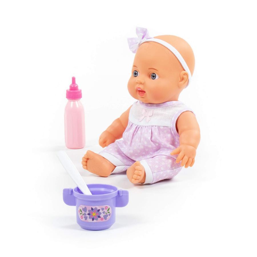 POLESIE® Niedliche Baby Puppe 24 cm mit Fütterungsset, 3 Teile
