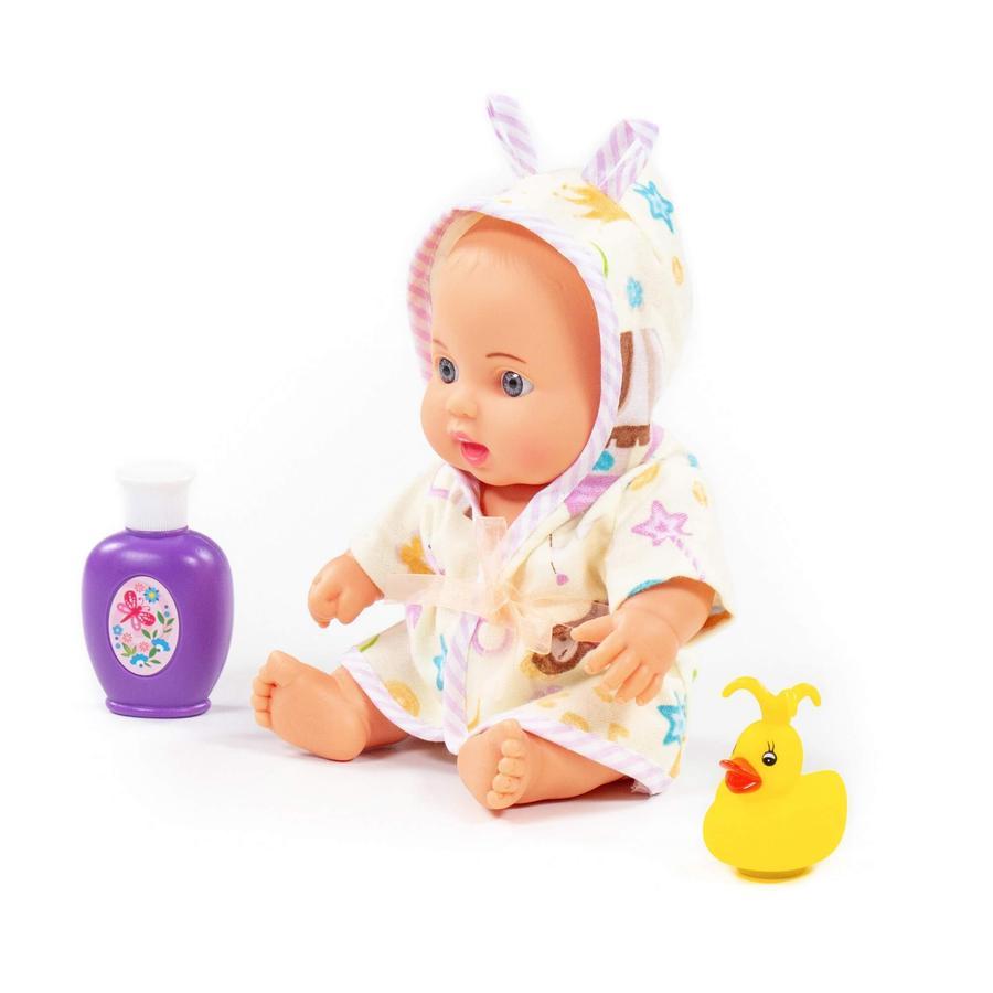 POLESIE® Niedliche Baby Puppe 24 cm mit Badeset, 3 Teile