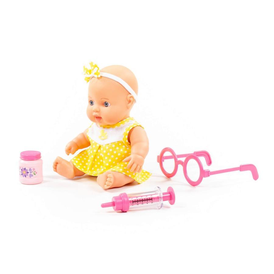 POLESIE® Niedliche Baby Puppe 24 cm mit Doktorset, 3 Teile
