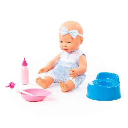 POLESIE ® Happy baby doll, 35 cm met fopspeen en accessoires, 4 delen