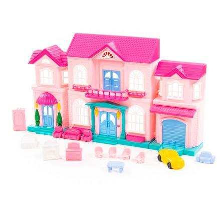"""POLESIE® Puppenhaus """"Sophie"""" mit Möbel und Auto, 14-tlg."""