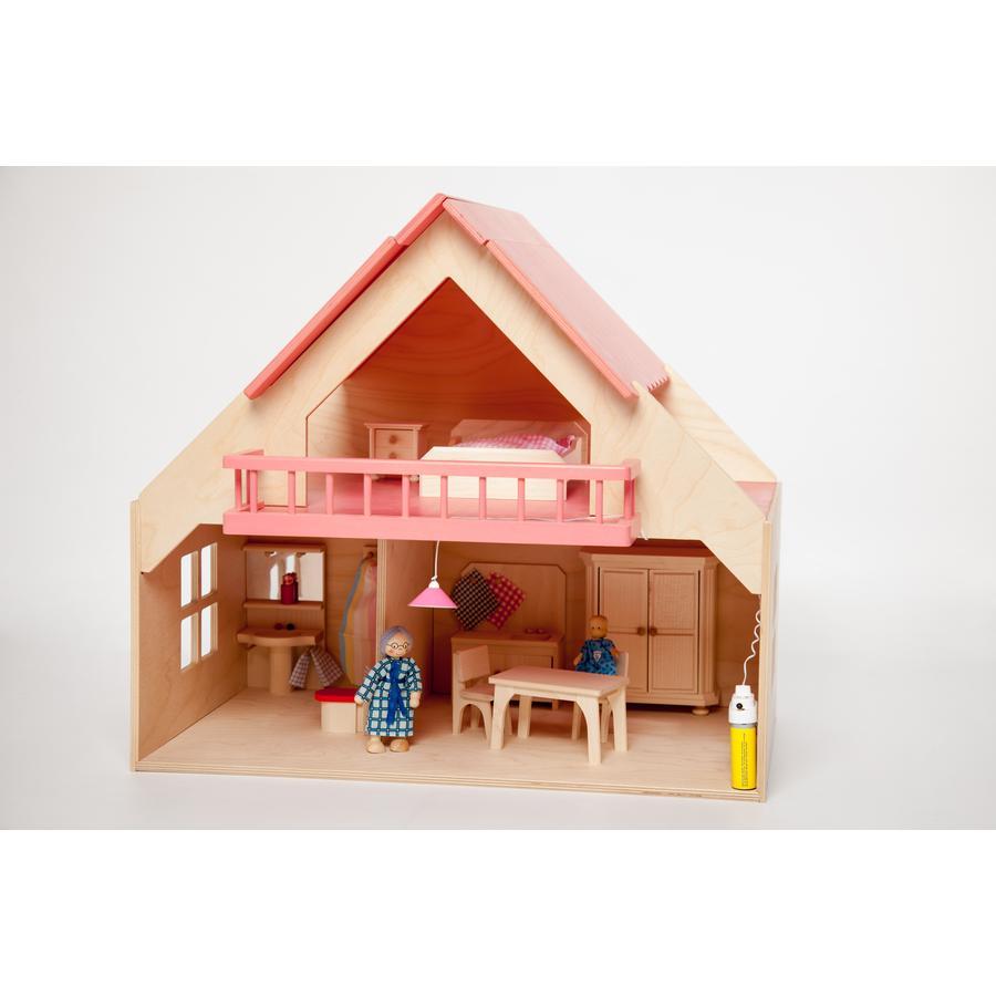 Rülke Puppenhaus inkl. Möbel-Set