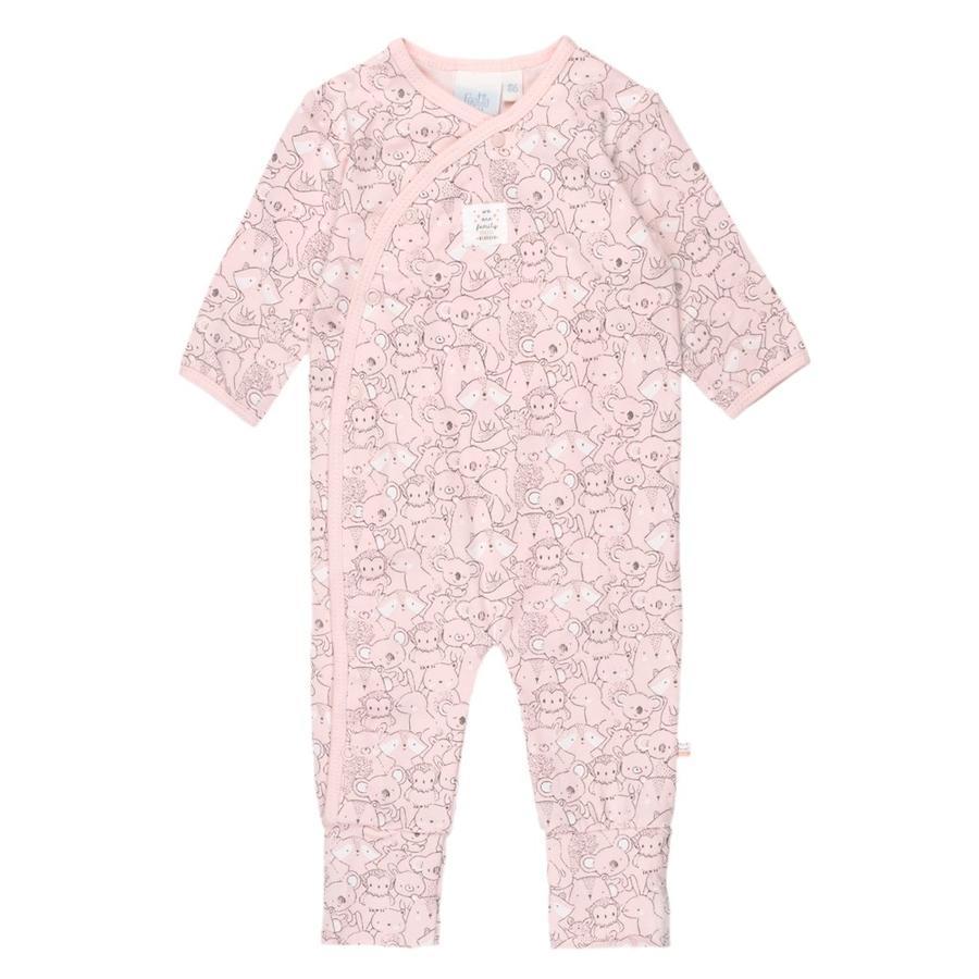 Feetje Pyjama met klapvoet We Are Family roze