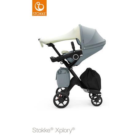 STOKKE® Kinderwagen Xplory® V6 Balance Blue mit Sportwagenaufsatz Limited Edition