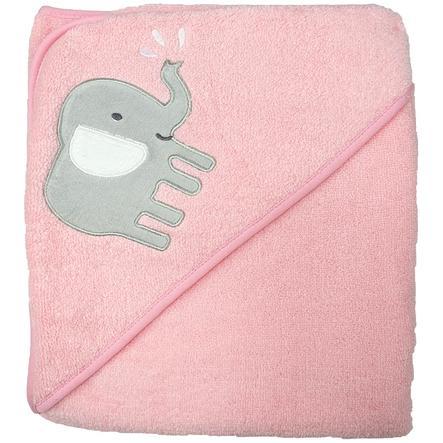 Serviette de bain à capuche HUTTE & CO apricot 100 x 100cm