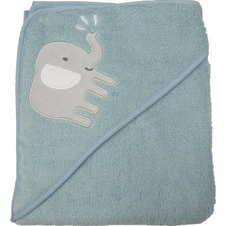 Ręcznik kąpielowy z kapturem HUTTE & CO miętowy 100 x 100 cm