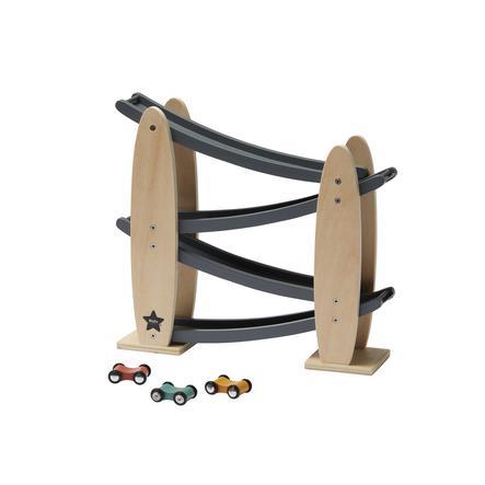Kids Concept® Ballbane med biler Aiden, grå