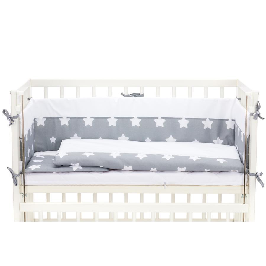 fillikid Bettwäscheset komplett für Cocon Sterne grau
