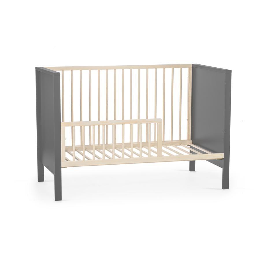 Kinderkraft Mia Grey Baby Crib