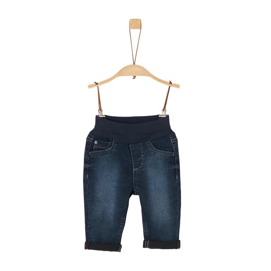 s. Olive r Jeans bleu foncé étiré