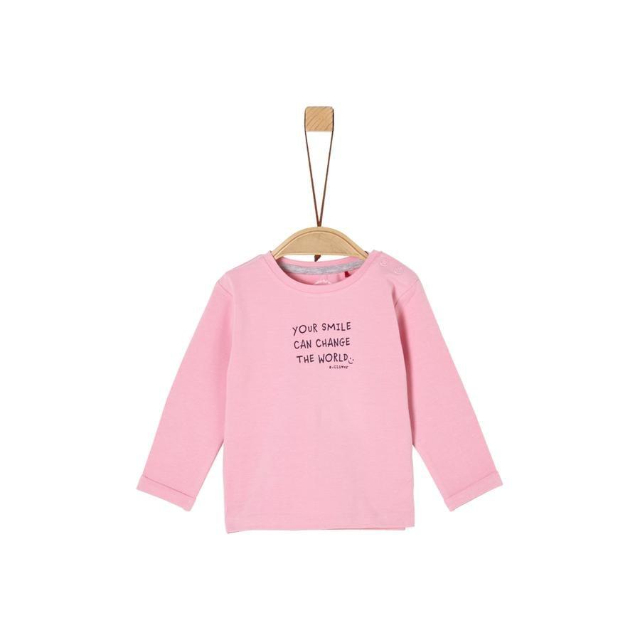 s. Olive r Camisa de light manga larga rosa