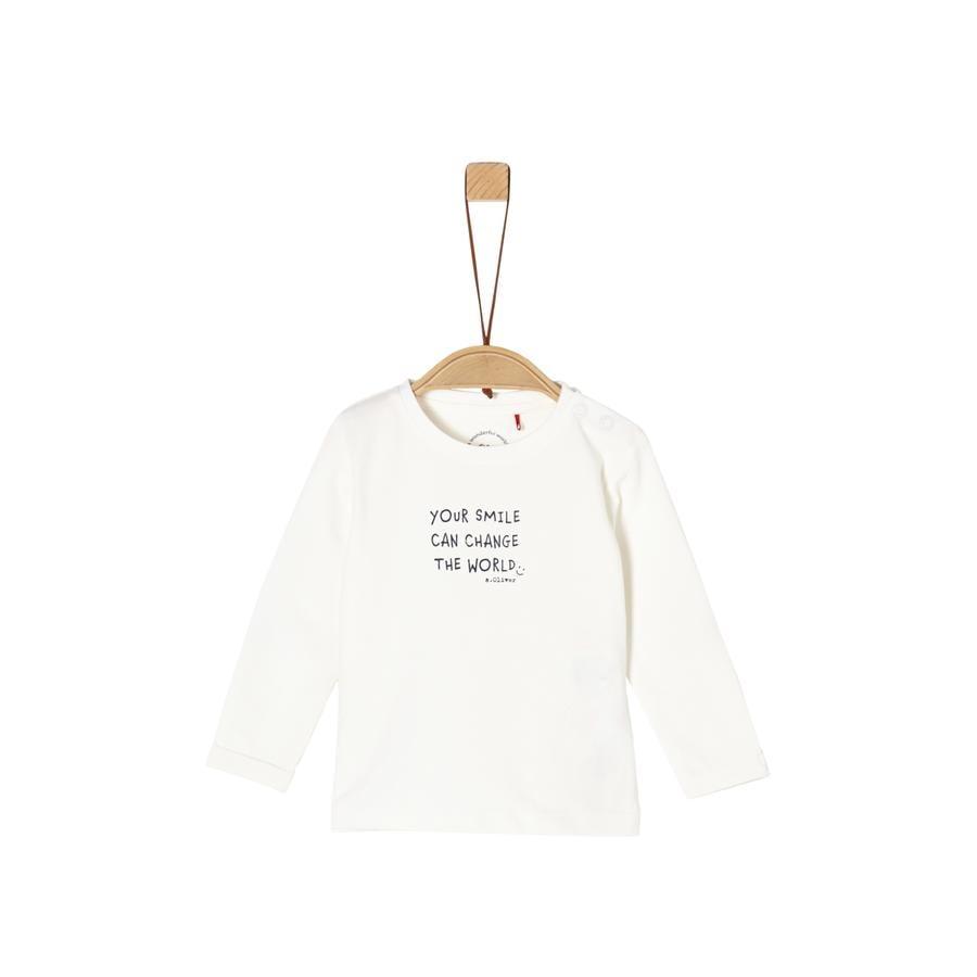 s. Olive r Shirt met lange mouwen uit white